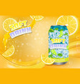 citrus soft drink advertising poster vector image