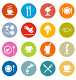 Colorful Circle Flat Design Restaurant - Food vector image