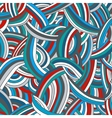 Colorful striped doodle background vector image