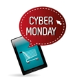 Cyber monday ecommerce shopping vector image