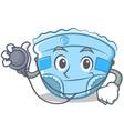 doctor baby diaper character cartoon vector image vector image