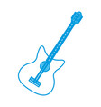eletric guitar instrument vector image