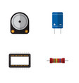 flat icon device set of mainframe resistance vector image vector image