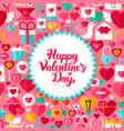flat valentine day postcard vector image