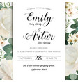 floral wedding invitation save the date card vector image vector image