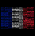 french flag mosaic of education text items vector image