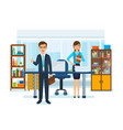 girl in strict work clothes boss with briefcase vector image vector image