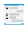 Group Chat vector image vector image