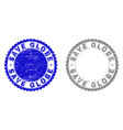 grunge save globe textured watermarks vector image vector image