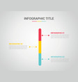 infographics timeline vertical with 3 or three vector image