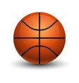 isolated basketball ball with shadow sport game vector image
