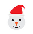 isolated christmas snowman avatar vector image vector image