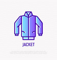jacket thin line icon modern vector image vector image
