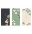 japanese floral background asian banner vintage vector image