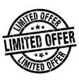 limited offer round grunge black stamp vector image vector image
