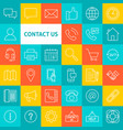 line contact us icons vector image