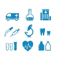 medical industry objects vector image vector image