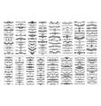 mega set 200 doodle sketch drawing divider vector image vector image