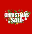 merry christmas and new year sale background vector image vector image