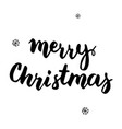 merry christmas handwritten card vector image vector image