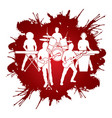 music bands graphic vector image