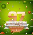 ninety seven years anniversary celebration design vector image vector image