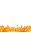 orange with orange blob vector image