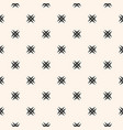 ornamental seamless pattern with cross shapes vector image vector image