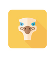 Ostrich flat icon Animal head vector image vector image