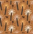 palm trees seamless pattern tropical vector image