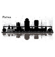 patna india city skyline silhouette with black vector image vector image