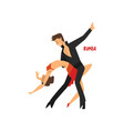 professional dancer couple dancing rumba pair of vector image vector image