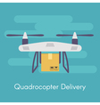 quadrocopter or drone Concept for quadrocopter vector image vector image