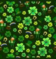 seamless st patrick s day green leprechaun vector image vector image