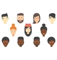 Set of human faces expressing different emotions vector image vector image