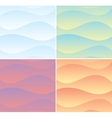 Set of Soft Waving Backgrounds Graphics vector image vector image