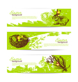 set vintage easter banners vector image vector image
