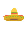 sombrero - mexican hat colorful flat icon vector image
