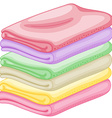 Stack of towels vector image