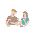 talking people - girl and boy vector image vector image