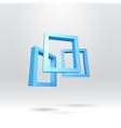 Three blue rectangular 3D frames vector image vector image