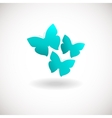 Three butterfly logo Blue colors logotype