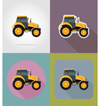 transport flat icons 36 vector image