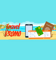 travel promo horizontal banner with text vector image vector image