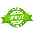 update ribbon update round green sign update vector image vector image