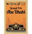 Vintage poster Grand Prix Abu Dhabi vector image vector image
