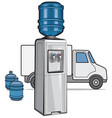 water delivery service vector image vector image