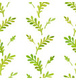 watercolor pattern leaves vector image vector image