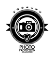 Black retro vintage label tag badge photo vector image