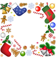 christmas decoration frame vector image